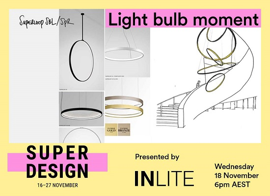 Light Bulb Moment, a enlightened talk at Super Design Festival